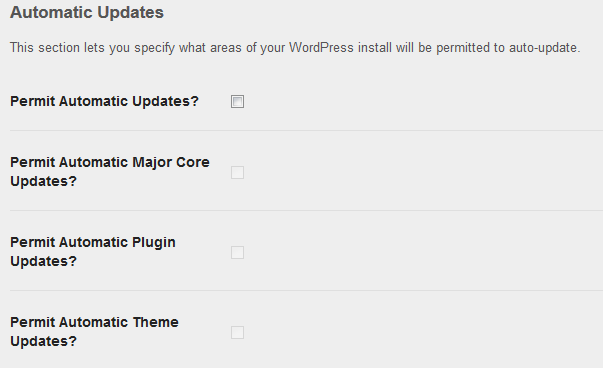 WordPress-Plugin Update-Control