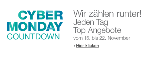 Amazon.de Cyber Monday Countdown