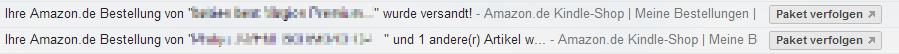 Gmail Paket verfolgen