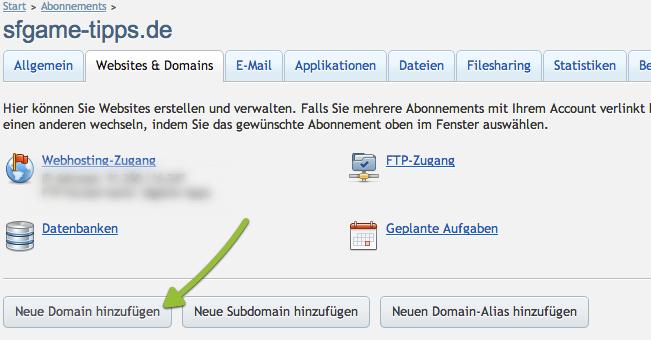 Plesk 11.5 Domain anlegen