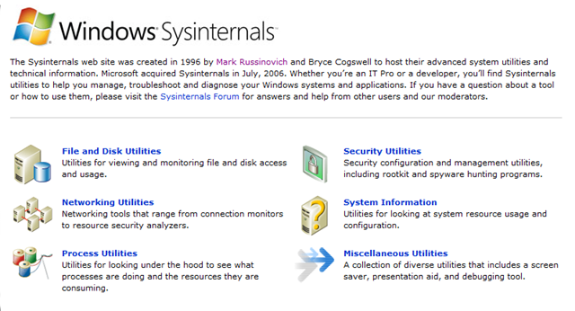 Windows-Sysinternals